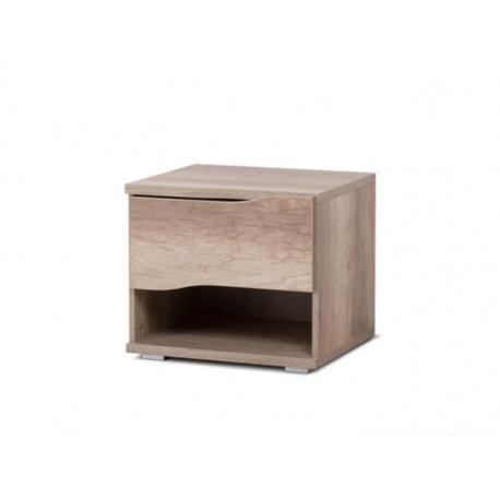 Noční stolek REA Wave 1 jednozásuvkový - dub cany