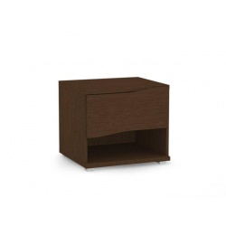 Noční stolek REA Wave 1 jednozásuvkový - wenge