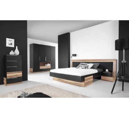 Ložnice Reno - ořech baltimore/černý lux