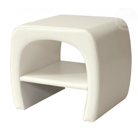 Bílý noční stolek TOKIO
