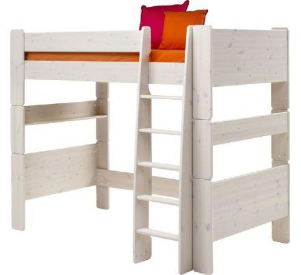 Vyvýšená postel Dash II 90x200 cm - masiv/bílá