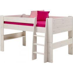 Vyvýšená postel Dash 90x200 cm - masiv/bílá