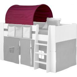 Textilie (tunel) k posteli Dany - lila/růžová