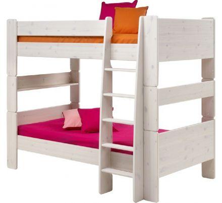 Patrová postel Dash 90x200 cm - masiv/bílá