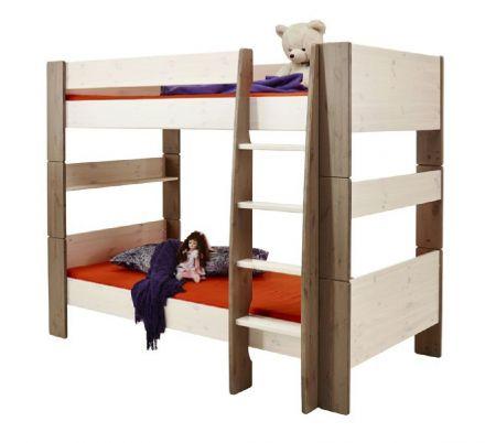 Patrová postel Dash 90x200 cm - bílá/hnědá