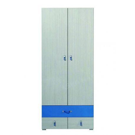 Dětská šatní skříň Adéla II - modrá