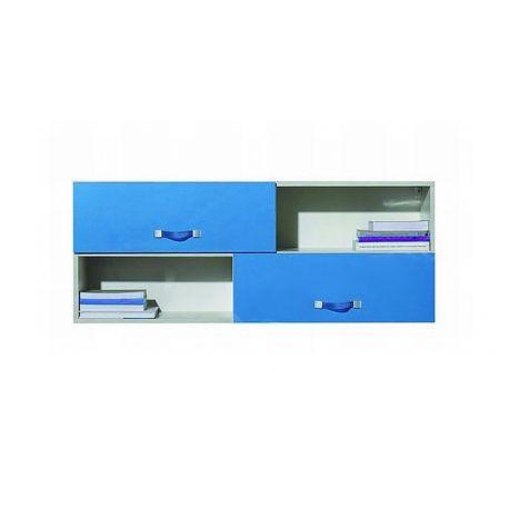 Dětská závěsná skříňka Adéla XII - modrá