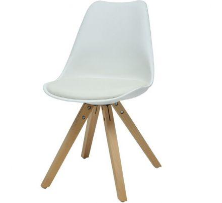 Jídelní židle Fashion - bílá/masiv