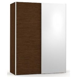 Šatní skřín se zrcadlem REA Houston 1 - wenge