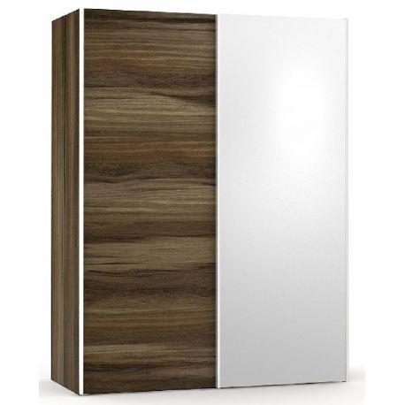 Šatní skřín se zrcadlem REA Houston 1 - ořech rock