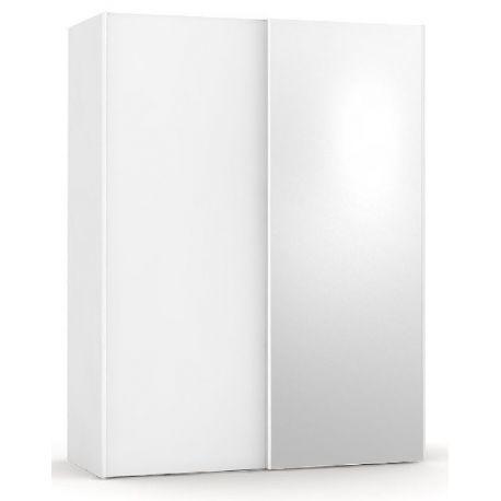 Šatní skřín se zrcadlem REA Houston 1 - bílá