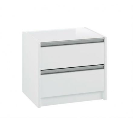 Noční stolek s 2 šuplíky Prit 002 - bílá