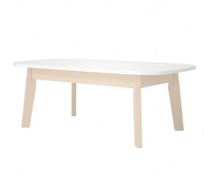 Konferenční stolek Donar - dub/bílá