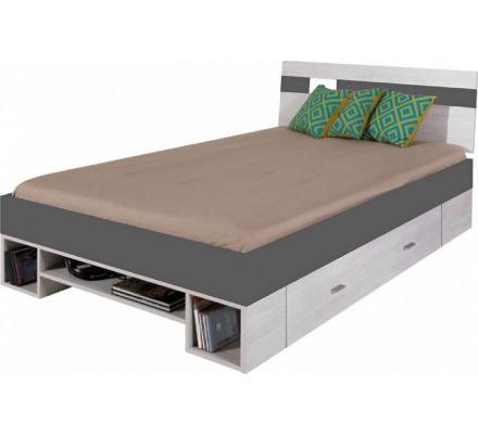 Postel Delbert 120x200 - fialová nebo šedá
