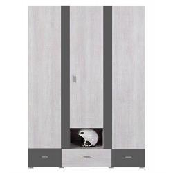 Šatní skříň Delbert 1 - fialová nebo šedá barva