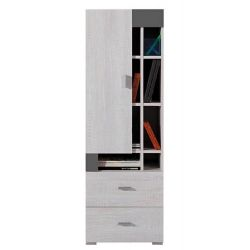 Nízká skříň Delbert 9 - fialová beno šedá