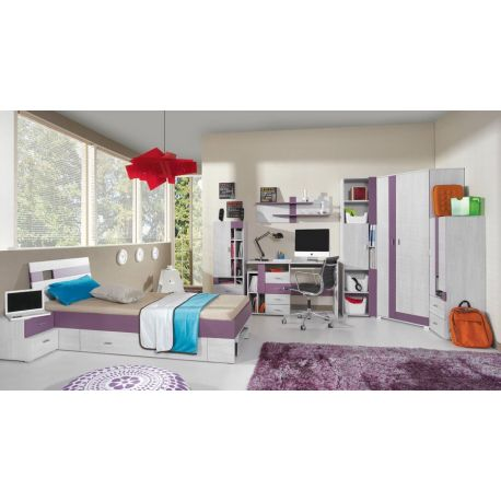 Dětský pokoj Delbert B - fialová nebo šedá