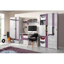 Dětský pokoj Delbert A1 - fialová nebo šedá