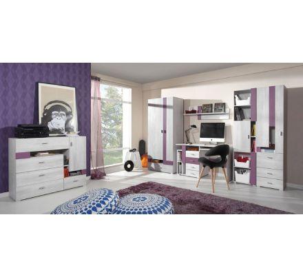 Dětský pokoj Delbert A - fialová nebo šedá
