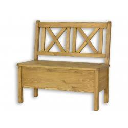 Jídelní lavice s úložným prostorem Sil 013 - 100cm - výběr moření