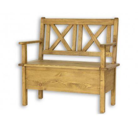 Jídelní lavice s úložným prostorem a područkami Sil 013 - 150cm - výběr moření