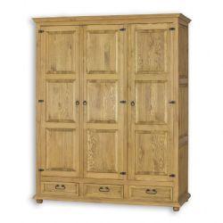 Šatní skříň z masivu 03 - selský nábytek