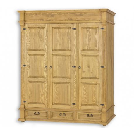 Šatní skříň z masivu 08 - selský nábytek