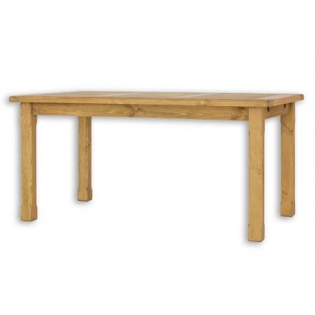 Jídelní stůl z masivu MES 02 A 80x120 s hladkou deskou - výběr moření
