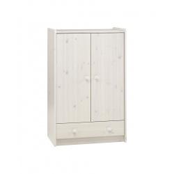 Šatní skříň Dash nízká - borovice/bílé moření