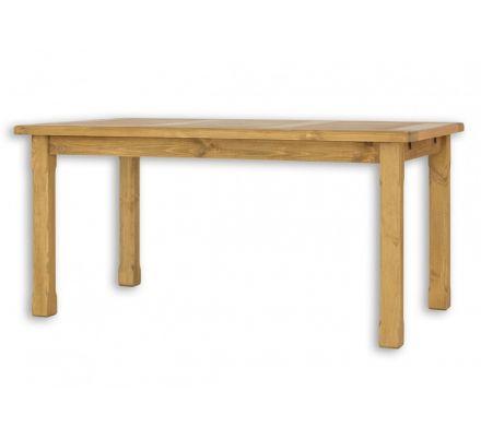 Jídelní stůl z masivu MES 02 A 90x160 s hladkou deskou - výběr moření