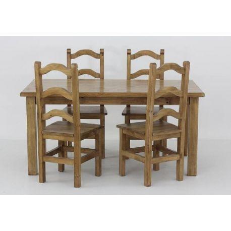 Jídelní stůl z masivu MES 13 A 80x140 s hladkou deskou - výběr moření