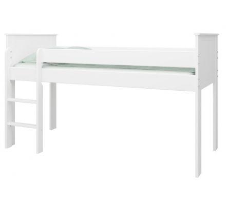 Vyvýšená postel Sendy 90x200cm - bílá