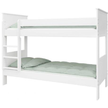 Patrová postel Sendy 90x200cm - bílá
