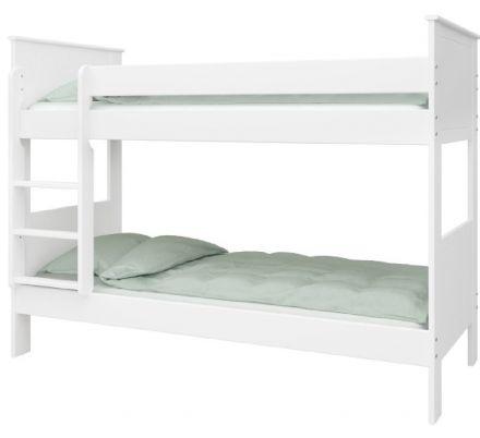Patrová postel Sendy 75x200cm - bílá