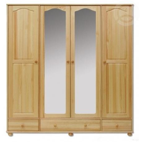 skříň z masivu borovice se zrcadly 200cm