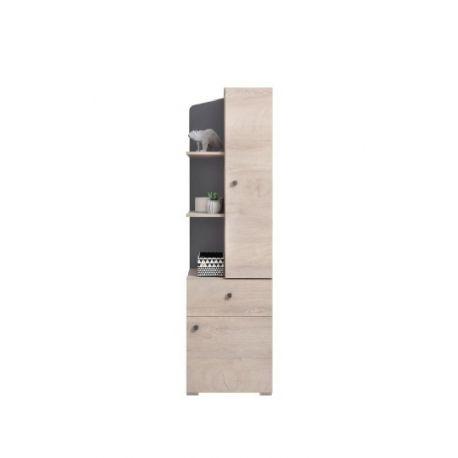 Kombinovaná skříňka Europe - dub/antracit