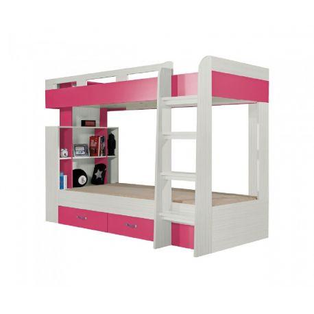 Patrová postel Adéla - růžová