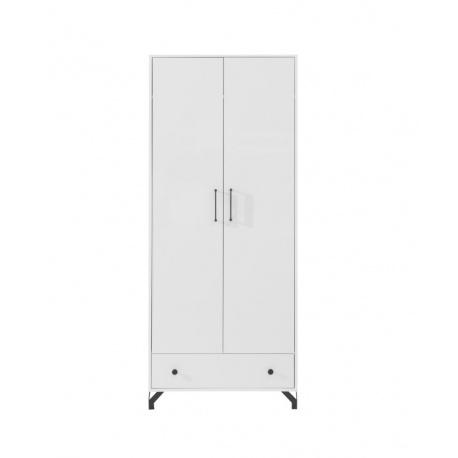 Šatní skříň Bjorn,skandinávský styl-bílá