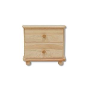Noční stolek z masivu borovice NS-108, Moření Moření dub