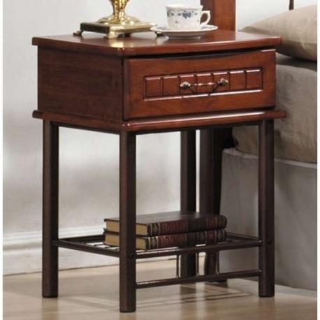 noční stolek s kovu