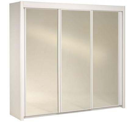 Šatní skříň s posuvnými dveřmi Clasic - bílá