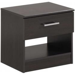 černý noční stolek do ložnice