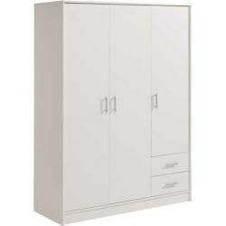 Šatní skříň General 3D2S - bílá