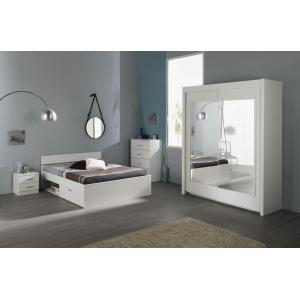 Ložnice General bílá, Varianta postele 160x200 bez šuplíku