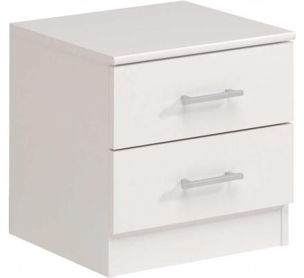 Noční stolek 2 šuplíky - bílý