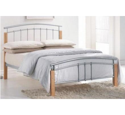 Manželská postel MIRELA - masiv/kov