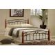 Manželská postel DOROTA - masiv/kov