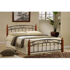 Manželská postel DOROTA - masiv/kov, Velikost postele 160x200