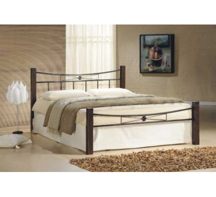 Manželská kovová postel PAVLA