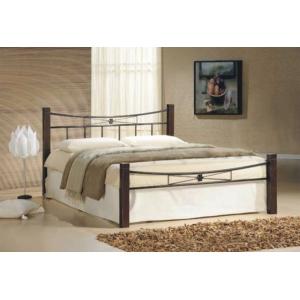 Manželská postel PAVLA - masiv/kov, Velikost postele 160x200